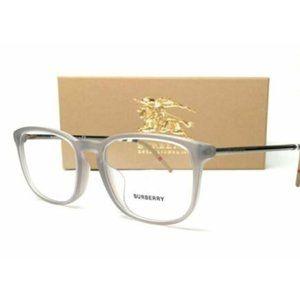 Burberry Men's Matte Grey Rectangle Eyeglasses!